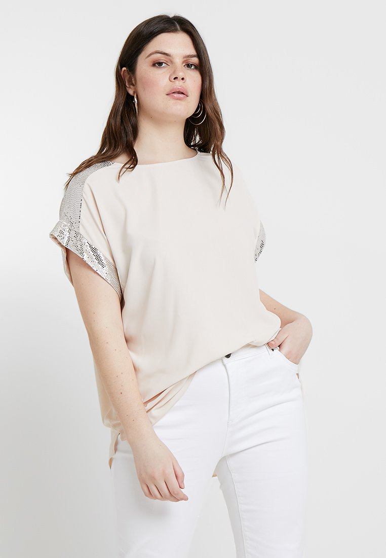 Dorothy Perkins Curve - SEQUIN TRIM SOFT - Blouse - blush