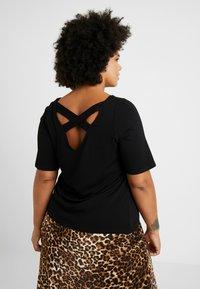 Dorothy Perkins Curve - CROSS BACK - Print T-shirt - black - 2