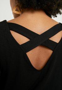 Dorothy Perkins Curve - CROSS BACK - Print T-shirt - black - 5