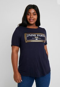 Dorothy Perkins Curve - NAVY MOTIF - T-shirt con stampa - navy - 0