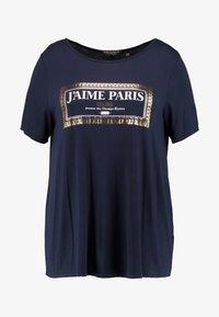 Dorothy Perkins Curve - NAVY MOTIF - T-shirt con stampa - navy - 4