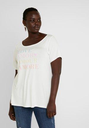 AMOUR MOTIF - T-shirt med print - white