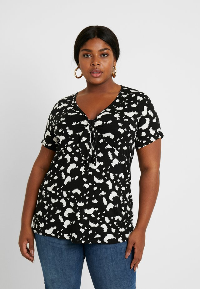 TIE FRONT SLEEVE PRINT - T-shirt con stampa - mono