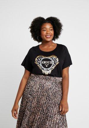AMOUR MOTIF - T-shirt imprimé - black