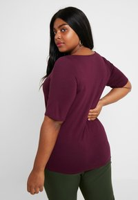 Dorothy Perkins Curve - LONG SLEEVE CROSS FRONT  - T-shirt imprimé - mauve - 2