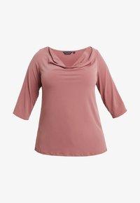 Dorothy Perkins Curve - COWL NECK DUSTY ROSE - Topper langermet - pink - 3