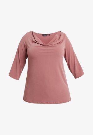 COWL NECK DUSTY ROSE - Langærmede T-shirts - pink