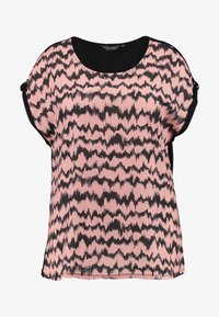 Dorothy Perkins Curve - LINEAR TIE DYE PRINT FRONT TEE - Pusero - pink - 4