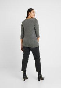 Dorothy Perkins Curve - WRAP - Camiseta de manga larga - charcoal - 2