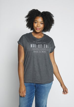 MOI ET TOI MOTIF TEE - T-shirt con stampa - charcoal