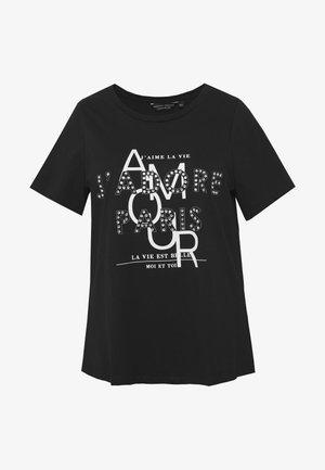 AMOUR MOTIF TEE - Camiseta estampada - black