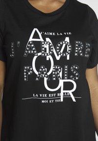 Dorothy Perkins Curve - AMOUR MOTIF TEE - T-shirt imprimé - black - 5