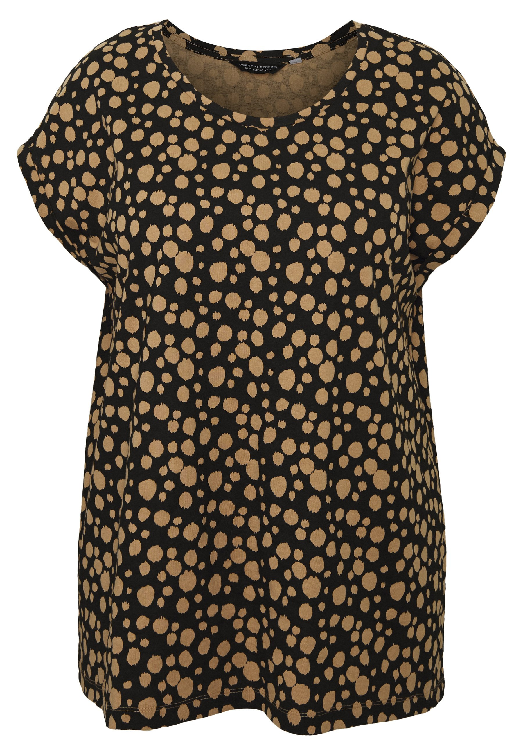 Dorothy Perkins Curve Organic Smudge - T-shirt Imprimé Camel