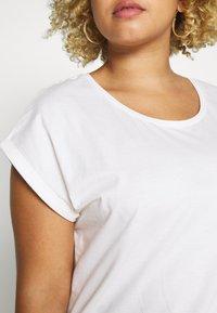 Dorothy Perkins Curve - ORGANIC ROLL SLEEVE TEE - Jednoduché triko - white - 4