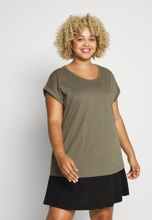 ORGANIC ROLL SLEEVE TEE - Basic T-shirt - khaki