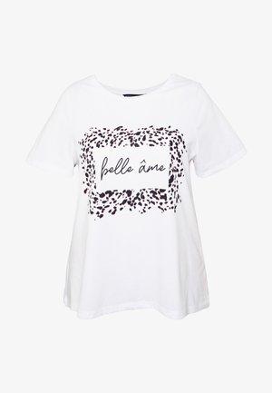 CURVE BELLE MOTIF TEE - T-shirt imprimé - ivory