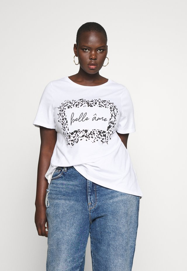 CURVE BELLE MOTIF TEE - T-shirt con stampa - ivory