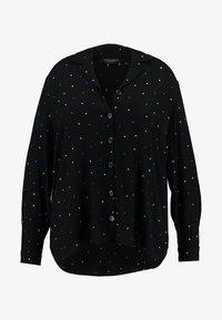 Dorothy Perkins Curve - PRINTED CRINKLE SHIRT - Skjorta - black base spot - 4
