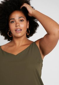 Dorothy Perkins Curve - CROSS BACK CAMISOLE - Top - khaki - 3