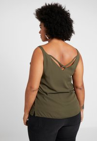 Dorothy Perkins Curve - CROSS BACK CAMISOLE - Top - khaki - 2