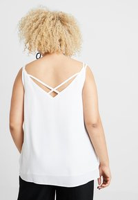 Dorothy Perkins Curve - BACK BUILT UP CAMISOLE - Top - white - 2