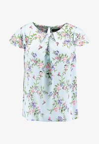 Dorothy Perkins Curve - SOFT FLORAL SHELL WITH FLUTTER SLEEVE - Blouse - blue - 4