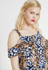Dorothy Perkins Curve - COLD SHOULDER SNAKE MIX PRINT - Bluser - multi coloured