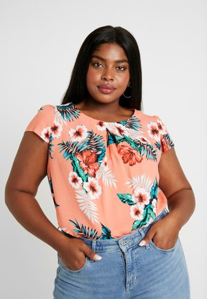 SHORT SLEEVE - Blouse - coral