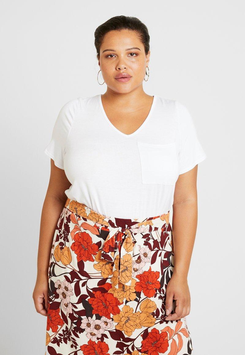 Dorothy Perkins Curve - V POCKET TEE - T-shirts - white