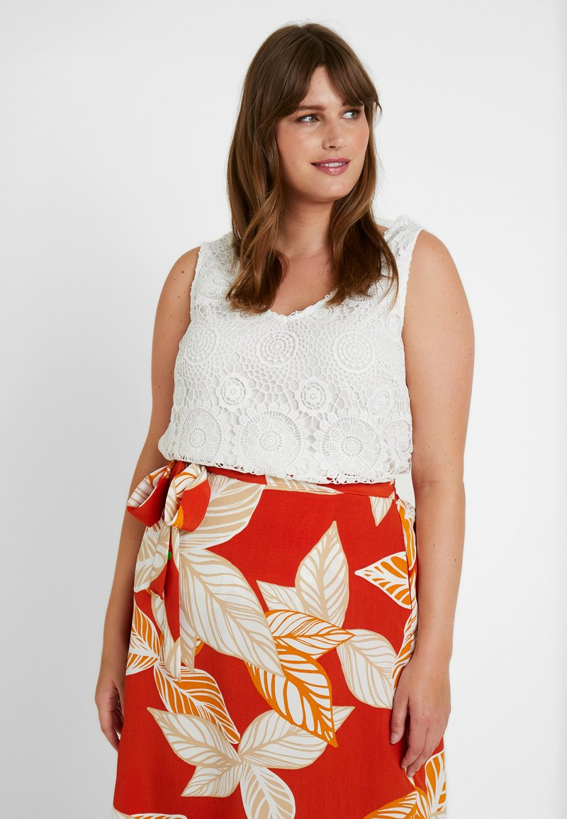 Dorothy Perkins Curve - GUIPURE - Blus - white