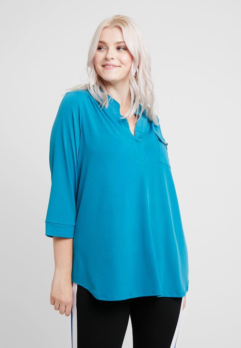 Dorothy Perkins Curve - POCKET - Langærmede T-shirts - teal
