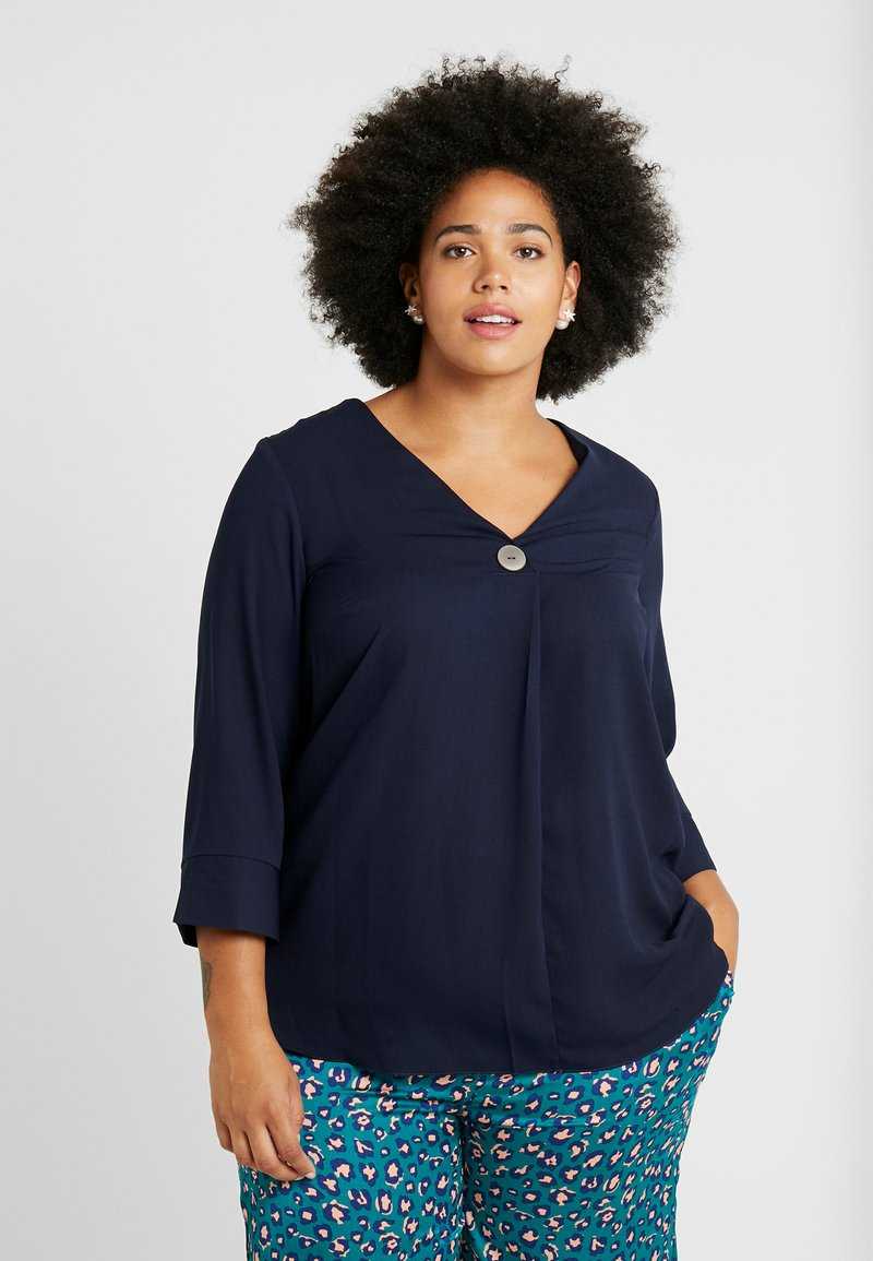 Dorothy Perkins Curve - OVER HEAD BUTTON - Bluser - navy