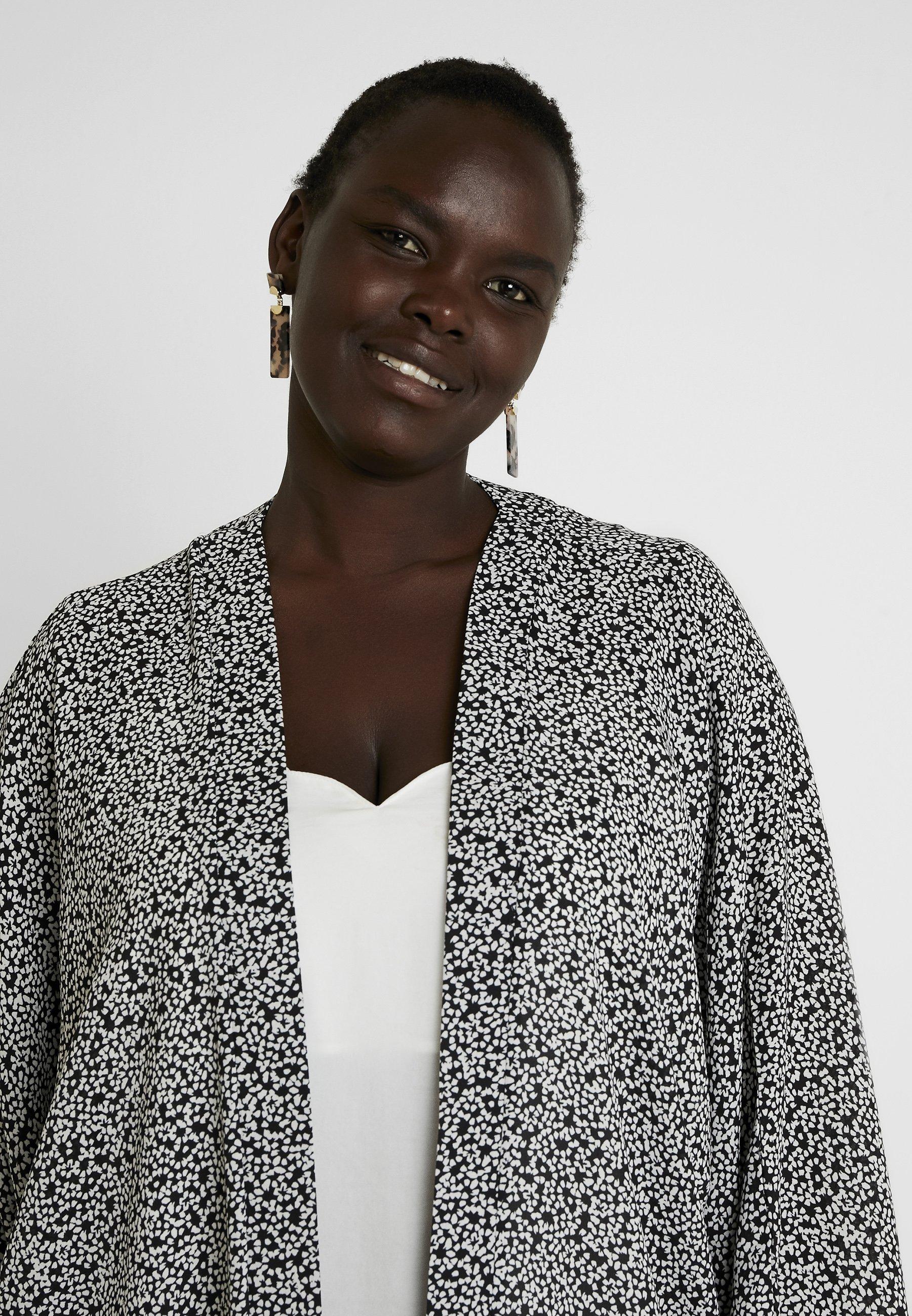 PrintVeste Dorothy Curve Mono Légère Black white Kimono Perkins sxQrdCth