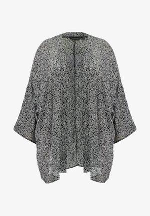 KIMONO MONO PRINT - Summer jacket - black/white