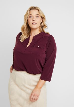 FORMAL  - Long sleeved top - burgundy