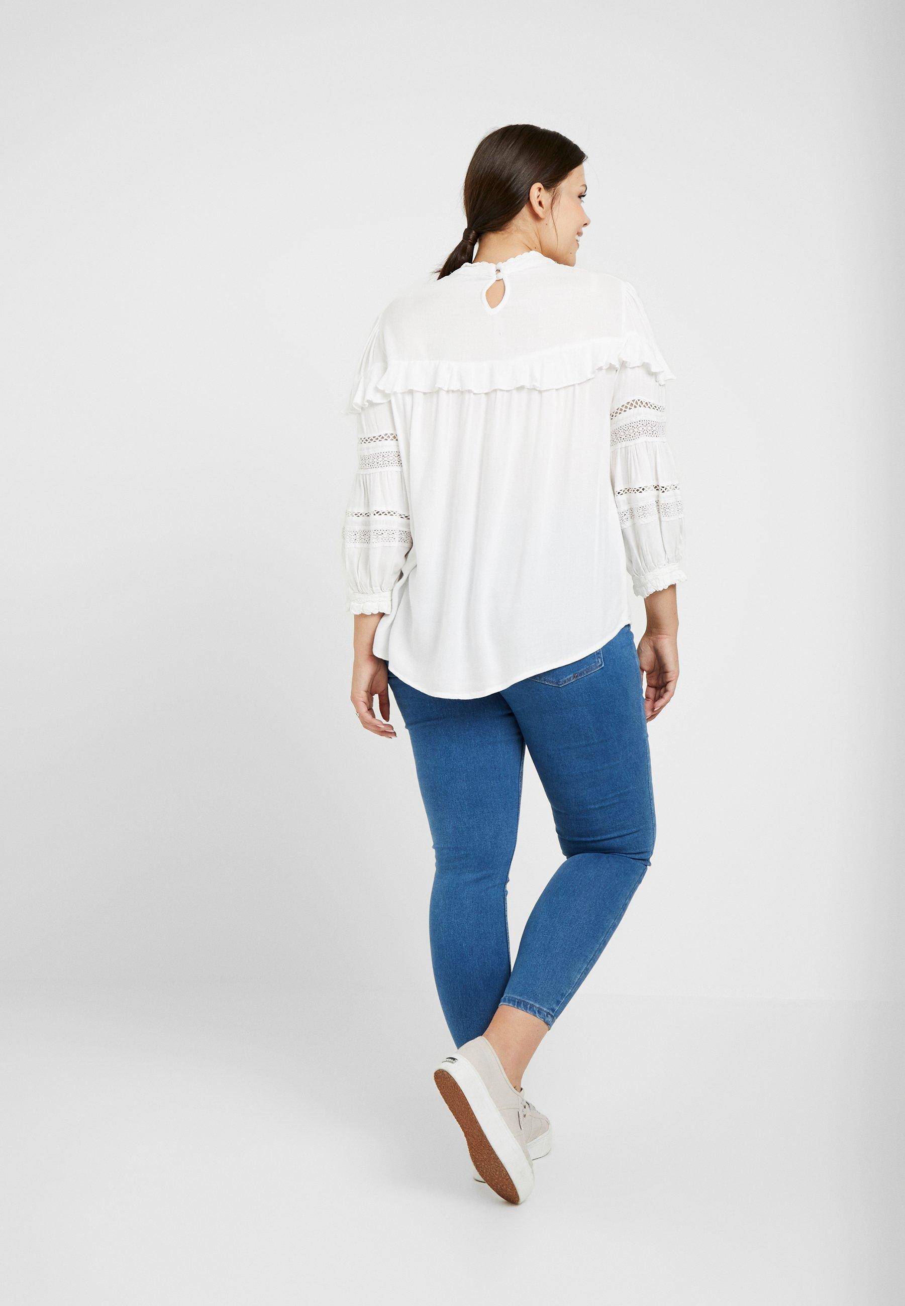 White 4 Manches 3 À Curve Dorothy Perkins SleeveT shirt Longues Ivory USjLqzMVpG