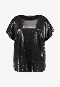 Dorothy Perkins Curve - SEQUIN TEE - Print T-shirt - black - 3