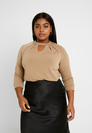 ITY PLEAT NECK - Long sleeved top - camel