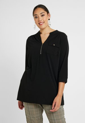 ZIP FRONT ITY TUNIC - Bluser - black