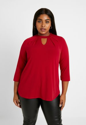 ITY PLEAT NECK - T-shirt à manches longues - red