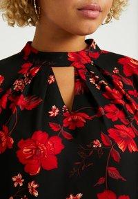 Dorothy Perkins Curve - PLEAT NECK HONEY FLORAL - Bluser - red - 3