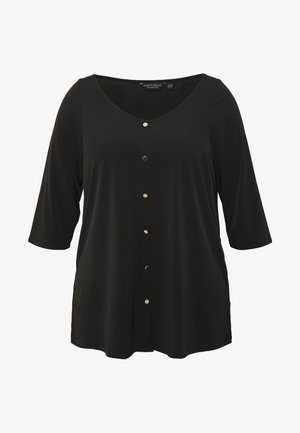 BUTTON THROUGH ITY - T-shirt à manches longues - black