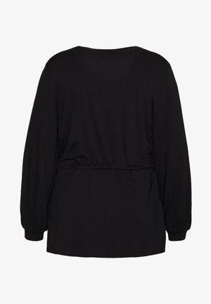 WRAP BALLOON SLEEVE - Pitkähihainen paita - black