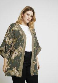 Dorothy Perkins Curve - PAISLEY KIMONO - Summer jacket - khaki - 0