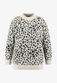Dorothy Perkins Curve - STEP HEM JUMPER - Stickad tröja - black/beige - 4