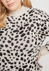Dorothy Perkins Curve - STEP HEM JUMPER - Stickad tröja - black/beige - 5