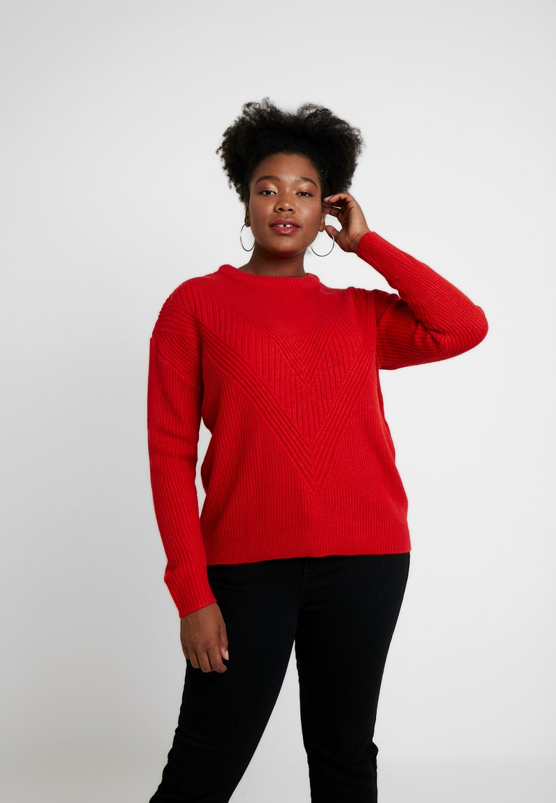 Dorothy Perkins Curve - LEAD IN STITCH - Jumper - red