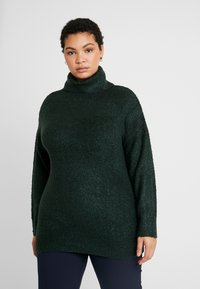 Dorothy Perkins Curve - ROLL NECK - Neule - green - 0