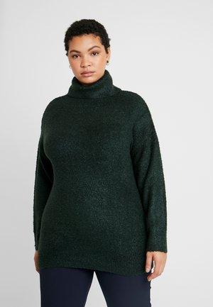 ROLL NECK - Stickad tröja - green