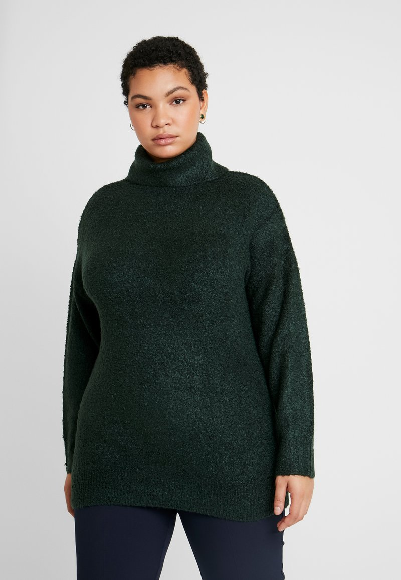 Dorothy Perkins Curve - ROLL NECK - Neule - green